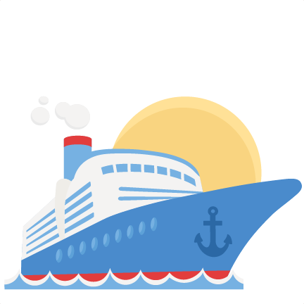 cruise ship clipart simple