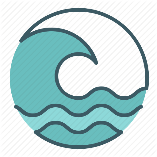 wave clipart circle