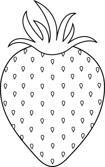 free black and white clipart strawberry