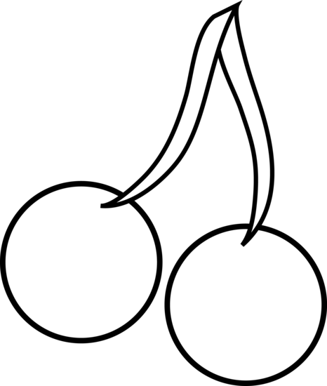 cherry clipart outline