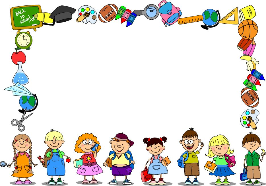 Clipart school background.