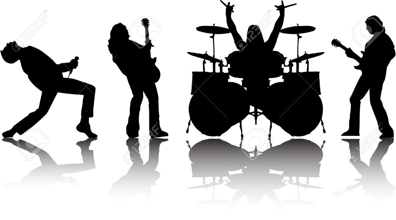 band clipart rock