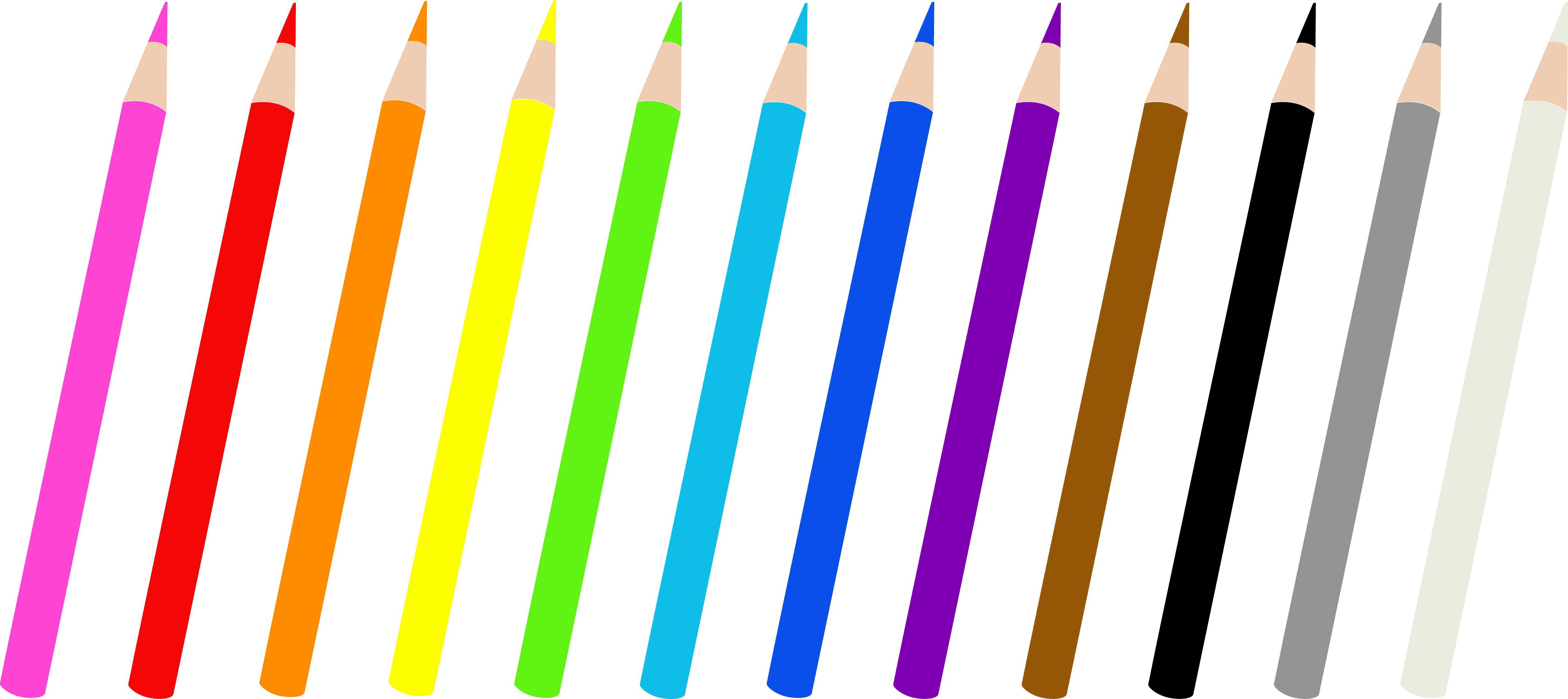pencil clipart colored
