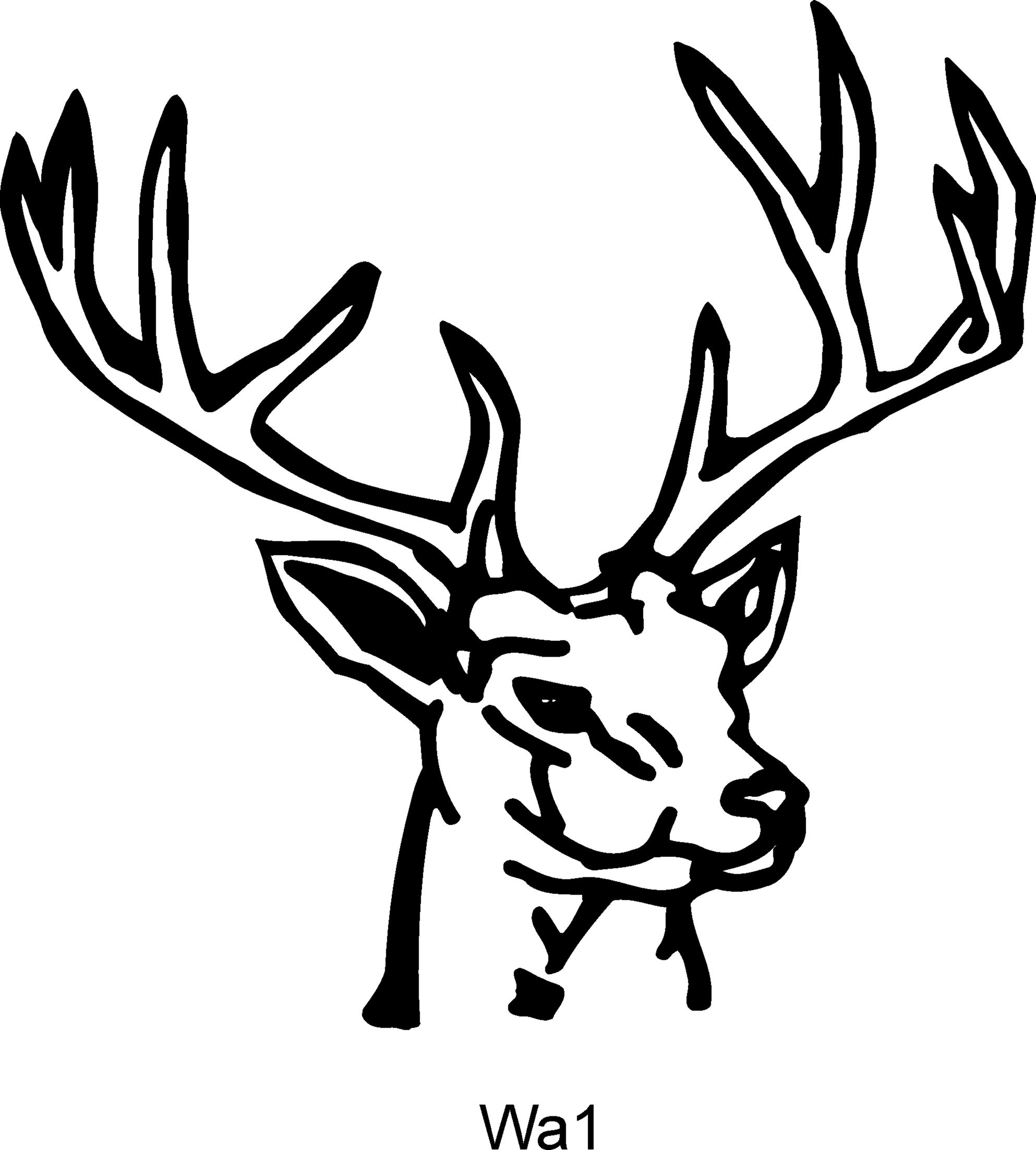deer head clipart drawing