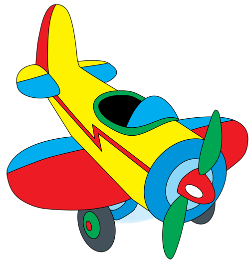 clipart airplane cartoon