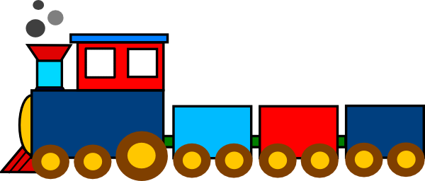 Train clipart cute.