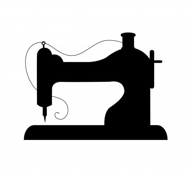 sewing machine clipart silhouette