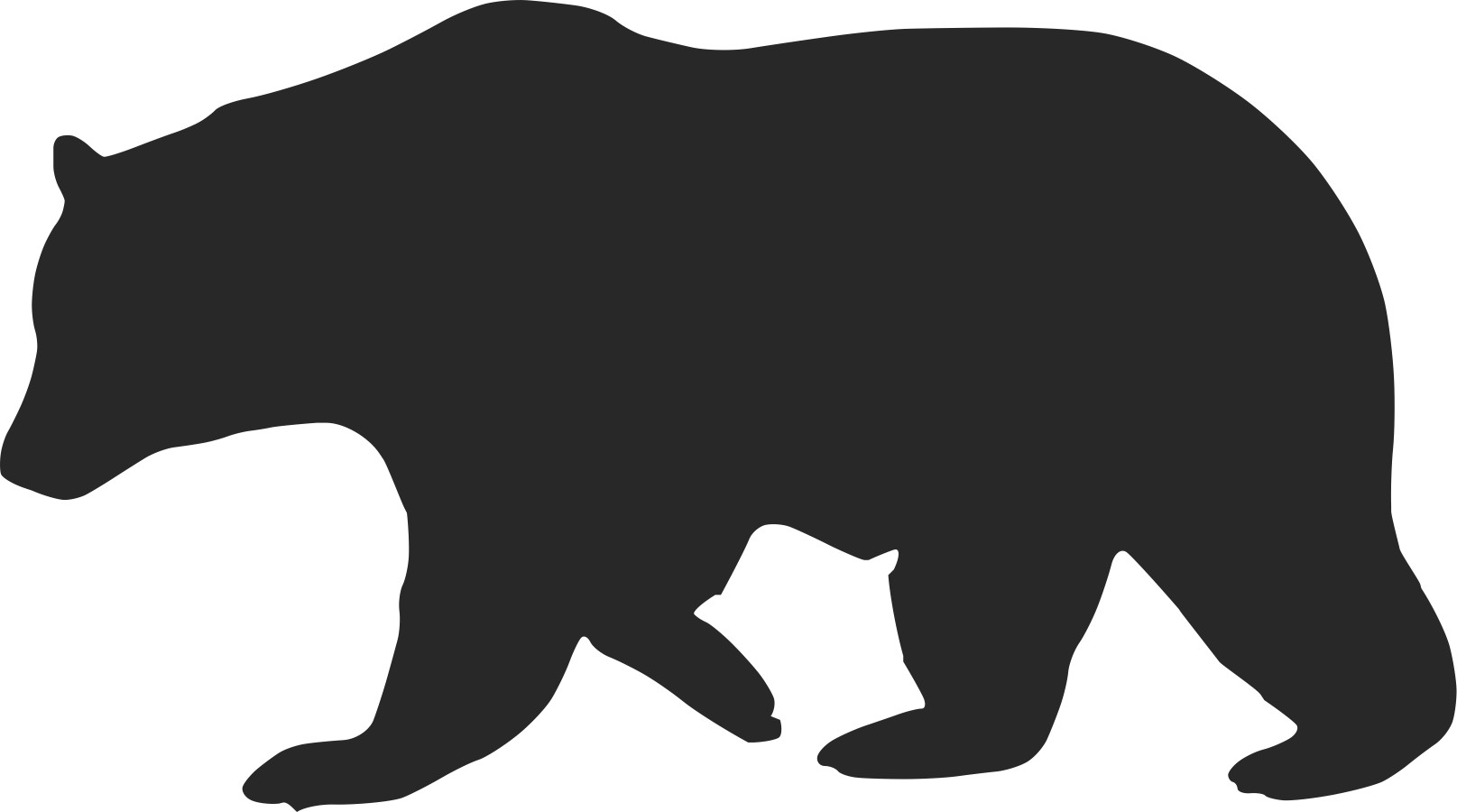 black bear clipart outline