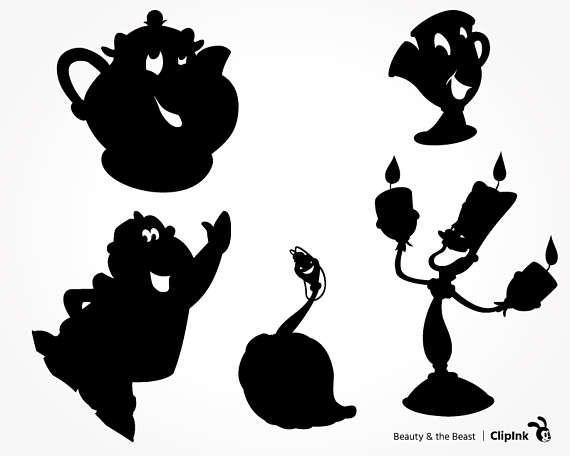 Shadow clipart beauty and the beast.