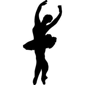 dancer clipart black