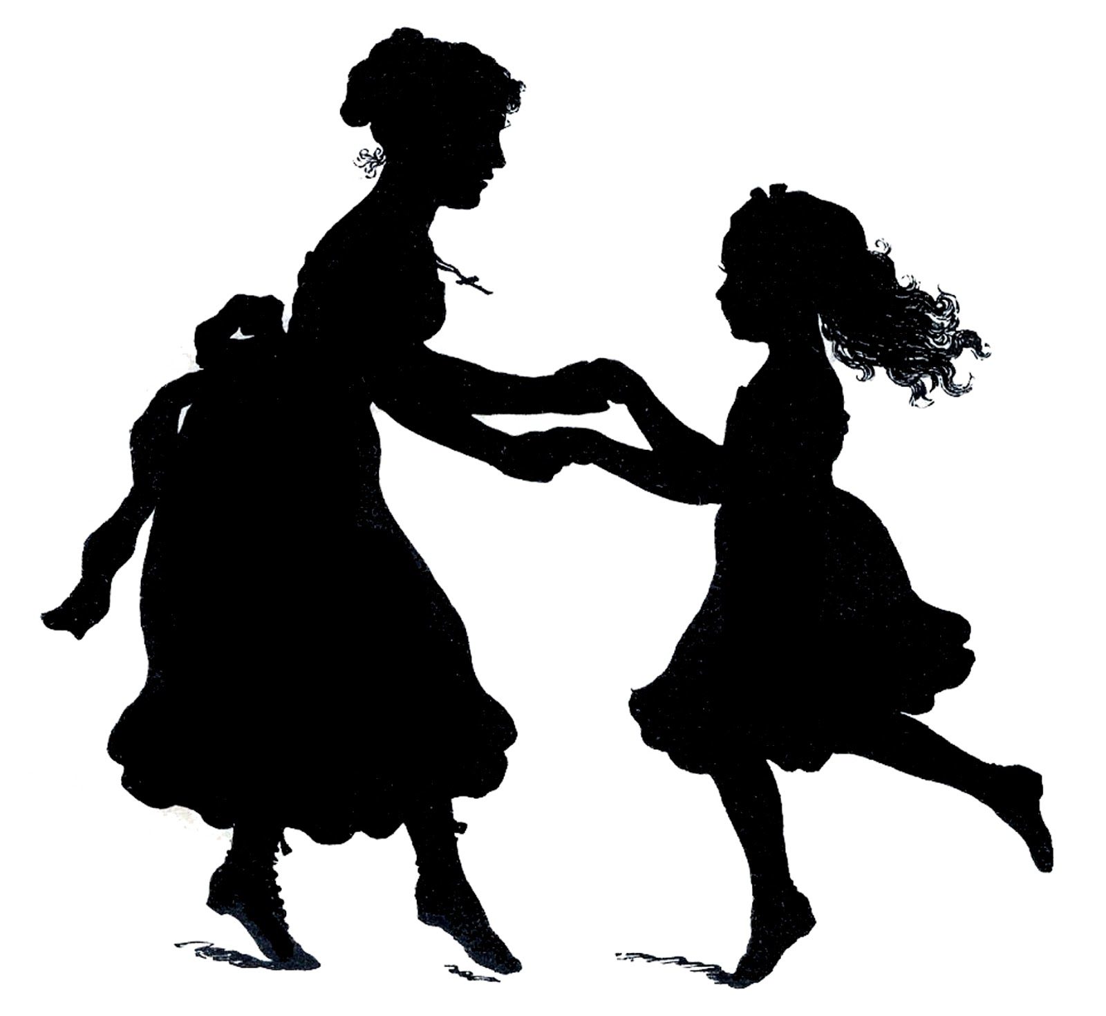 mother-s day clipart free silhouette