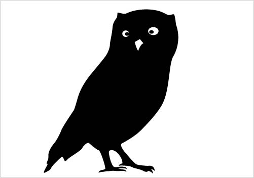 clipart owl silhouette