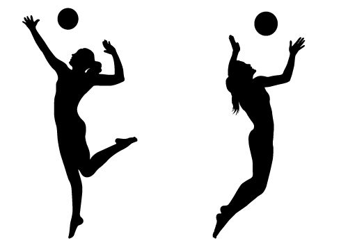 volleyball clipart hitting