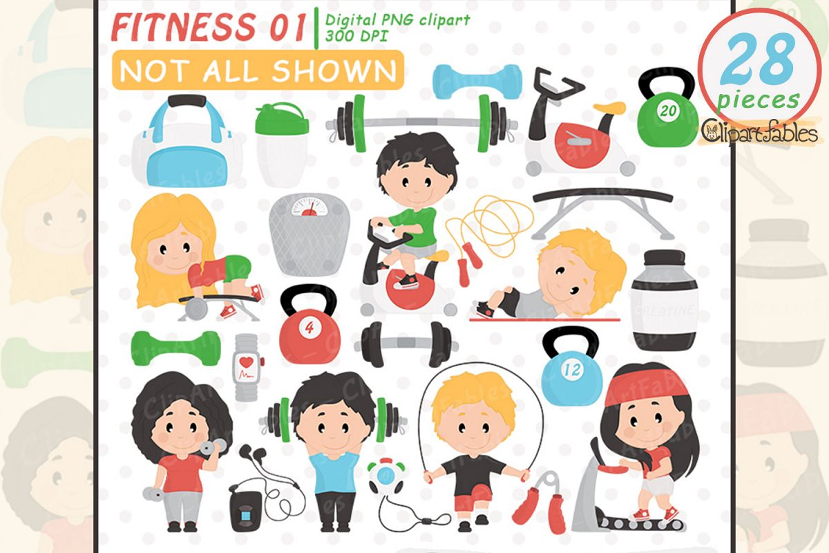 Fitness clipart cute.