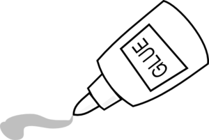 glue stick clipart outline