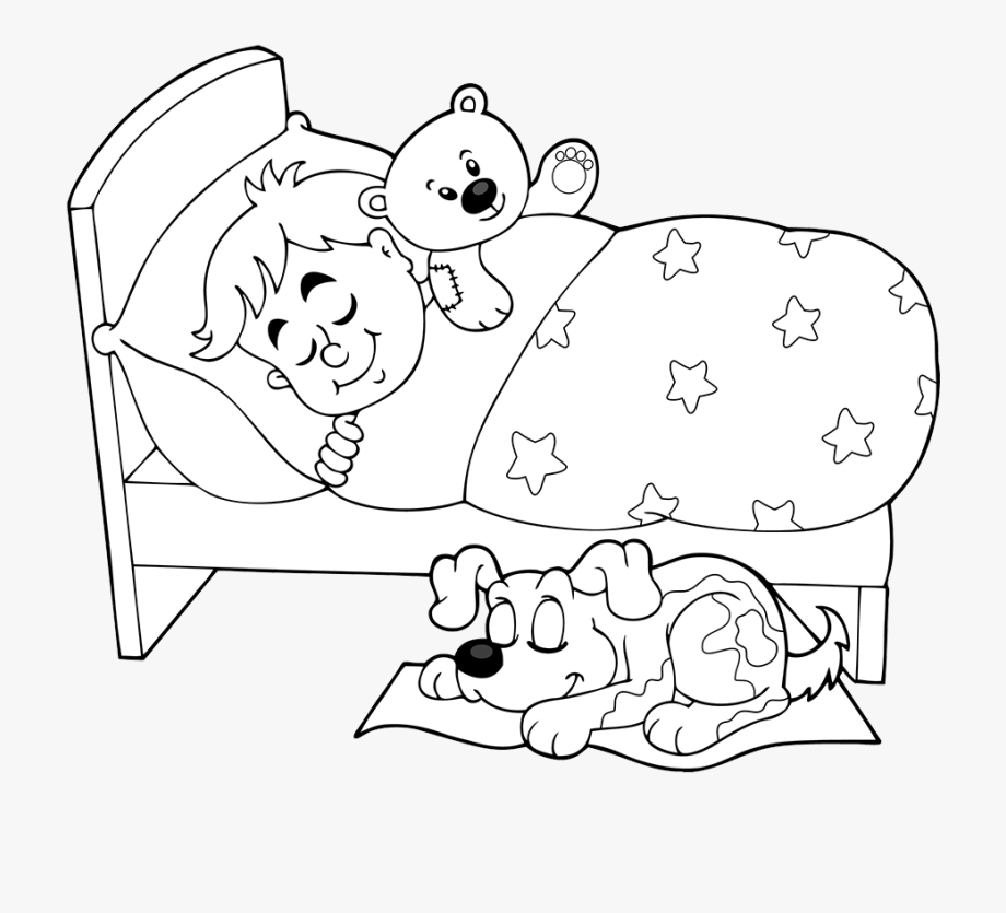 Sheep clipart black and white sleeping.