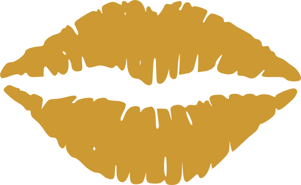 lips clipart gold