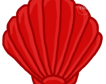 Shell clipart red clipart.