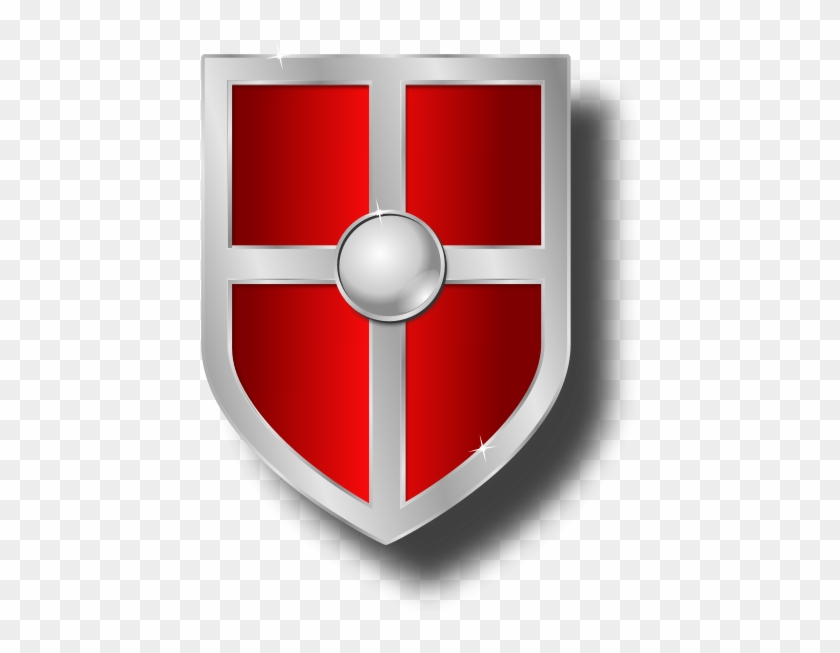Shield clipart red.
