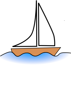 sailboat clipart realistic