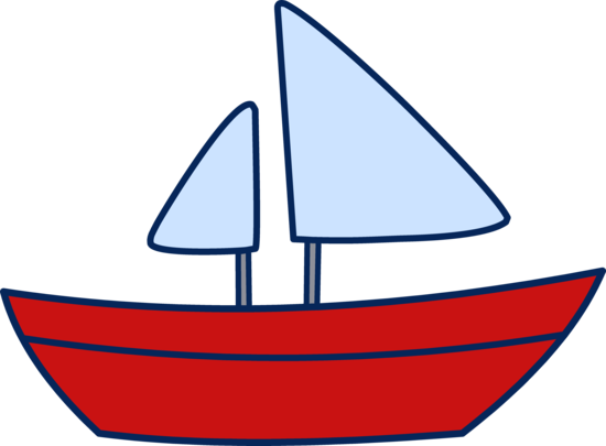 sailboat clipart colorful