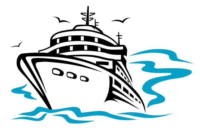 cruise ship clipart front