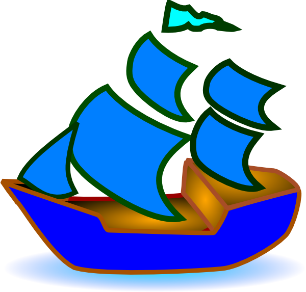 sailboat clipart blue