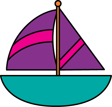 sailboat clipart pink