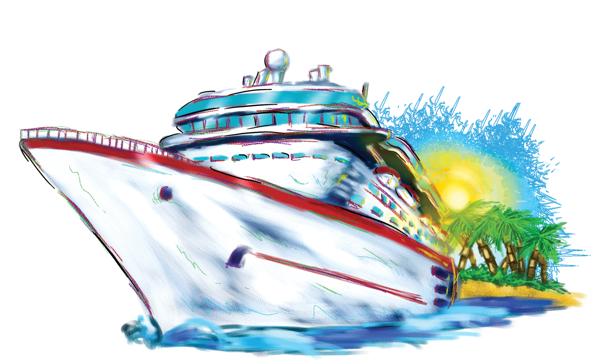 cruise ship clipart animated