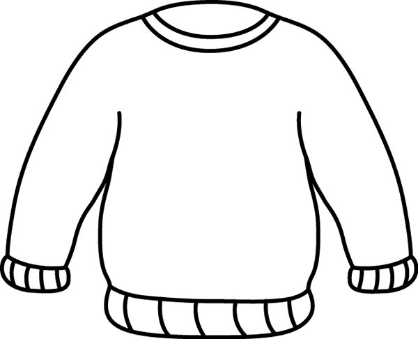 ugly christmas sweater clipart outline