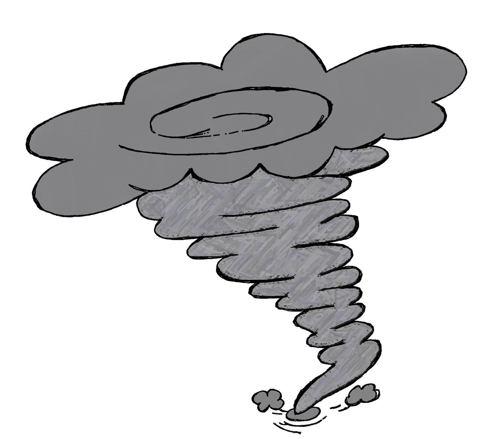 thunder clipart tornado cloud