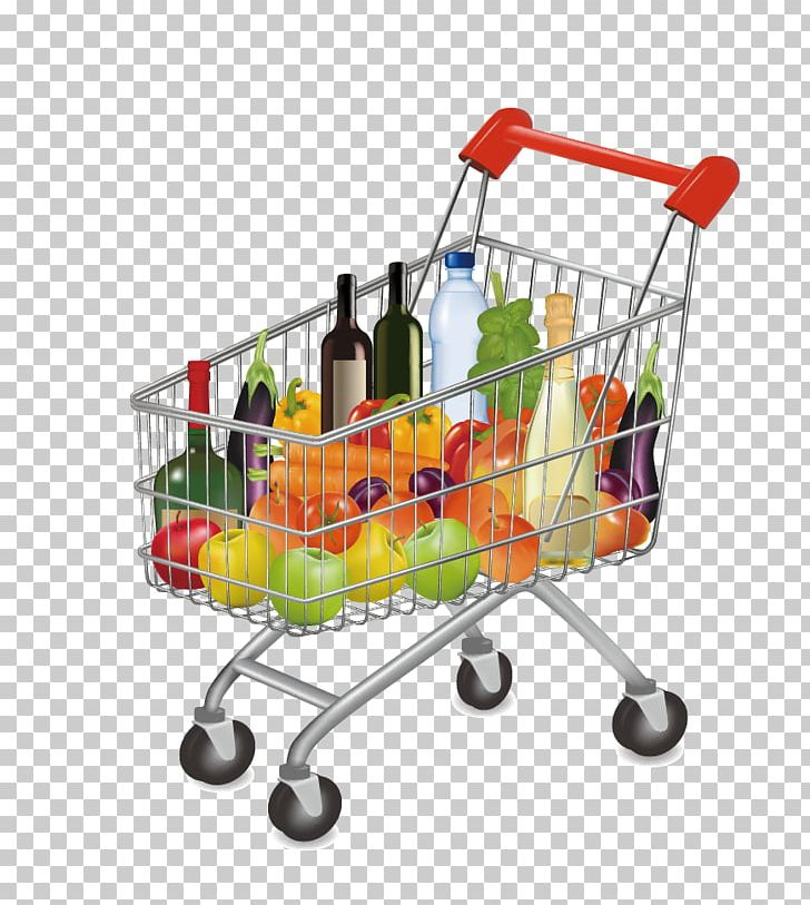 shopping carts clipart food