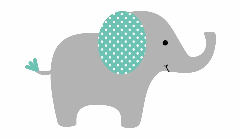Baby elephant clipart blue.
