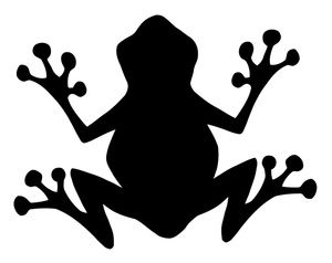 Silloutte clipart frog.
