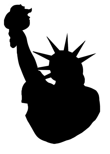statue of liberty clipart silhouette