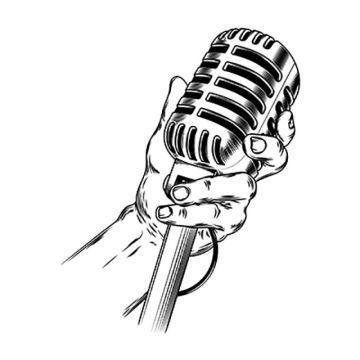 microphone clipart clear background