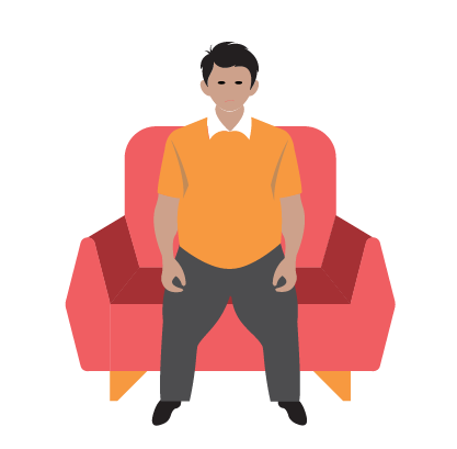 sit clipart sedentary