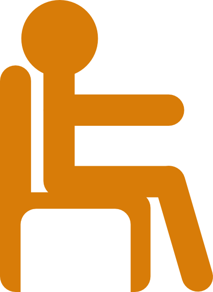 Sit clipart seated.