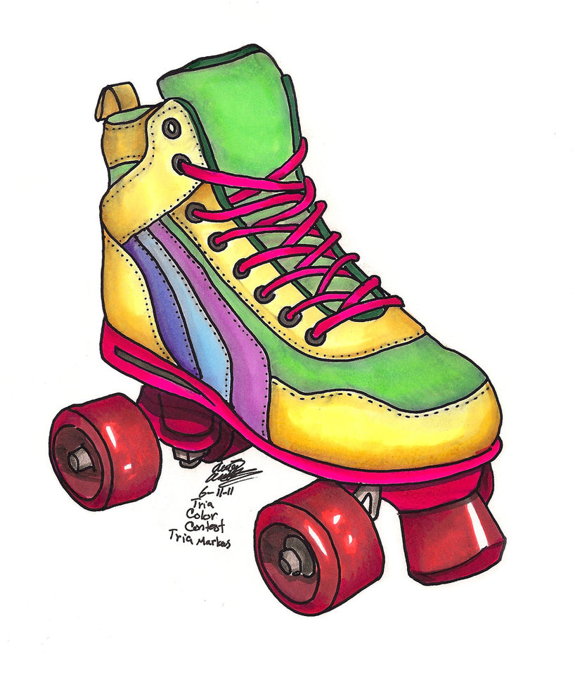 rollerblading clipart person