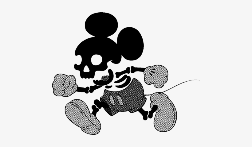 Skeleton clipart mickey mouse.