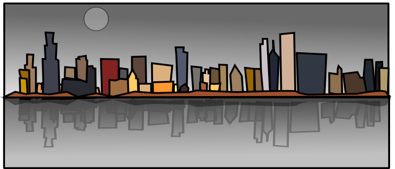 City clipart waterfront.
