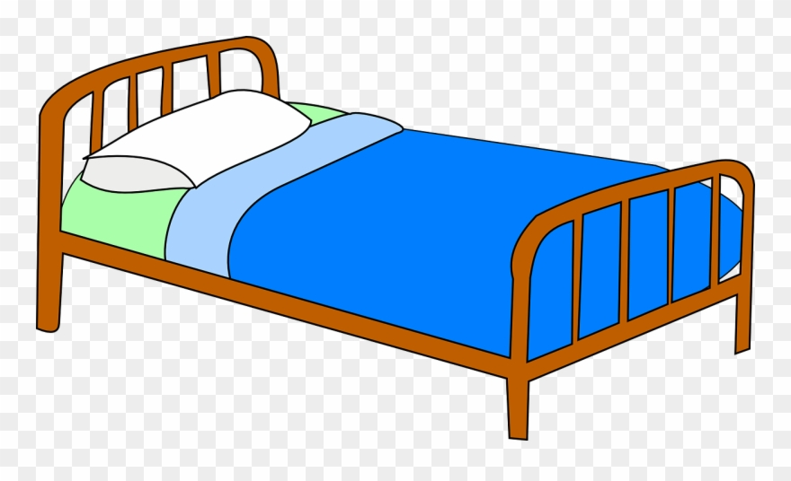 Bed clipart man.
