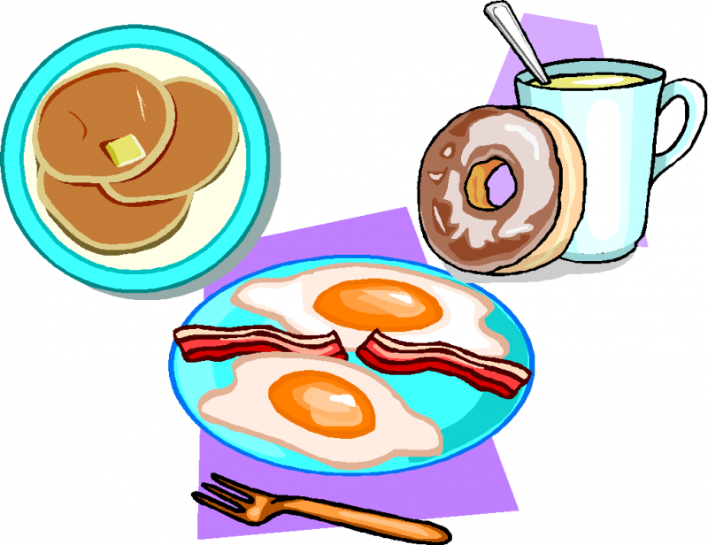 eating breakfast clipart continental