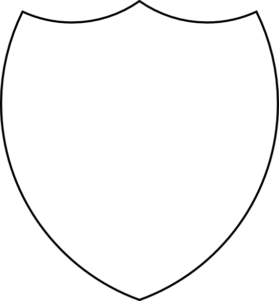 shield clipart outline