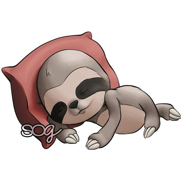 Sloth clipart sleepy.