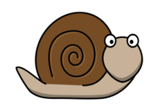 snail clipart yeux
