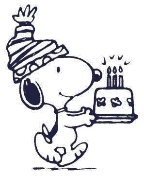 Snoopy clipart birthday.