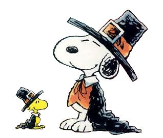 clipart thanksgiving snoopy