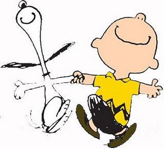 Snoopy clipart happy dance.