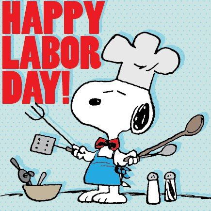 Snoopy clipart labor day.